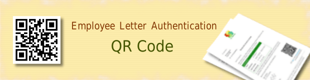 Employee Letters with QR Code